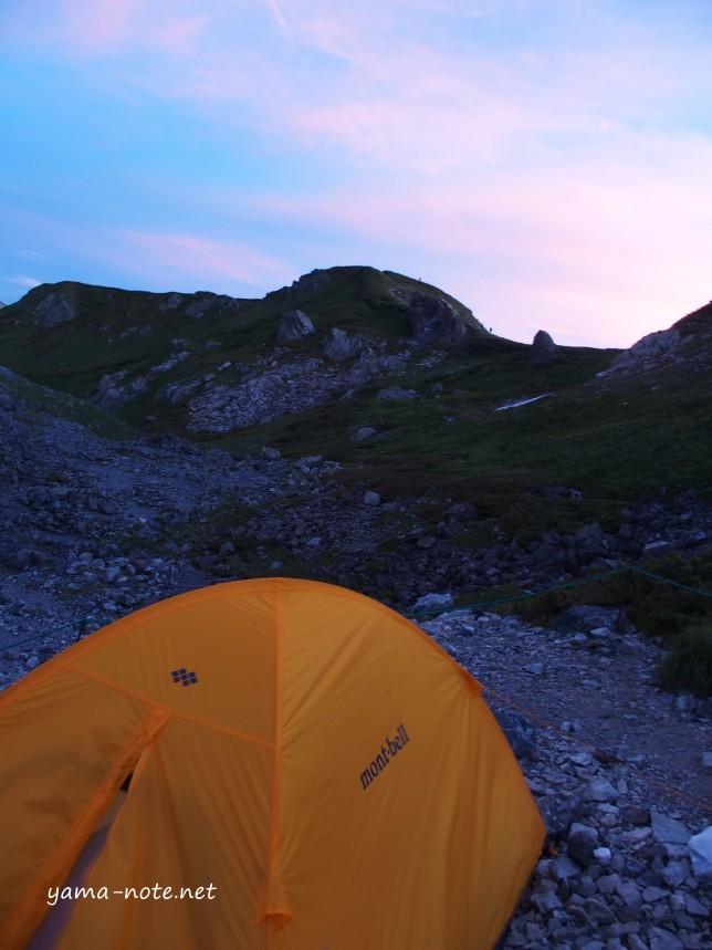白馬岳テント