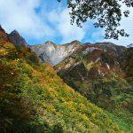 紅葉燃える雨飾山