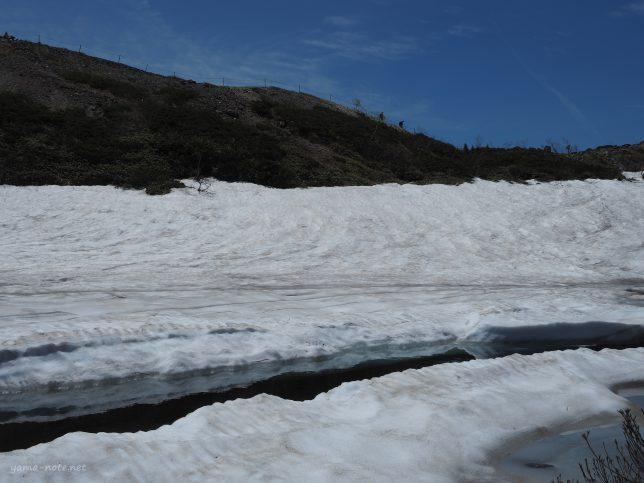 残雪の八方尾根
