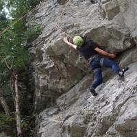天然岩クライミング2015年8月